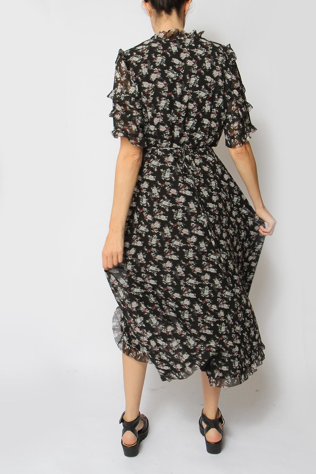 Just Female Moe Floral Dress - Back Cropped Image
