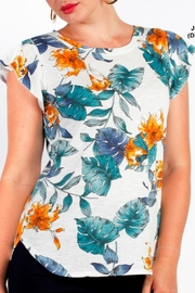 Moffi Floral Print Flutter Tee - Product Mini Image