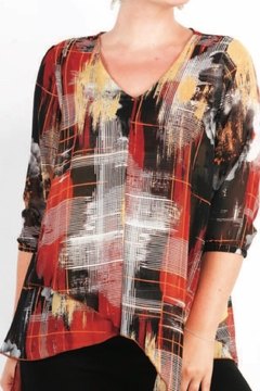 Moffi V Neck Layered Top - Product List Image