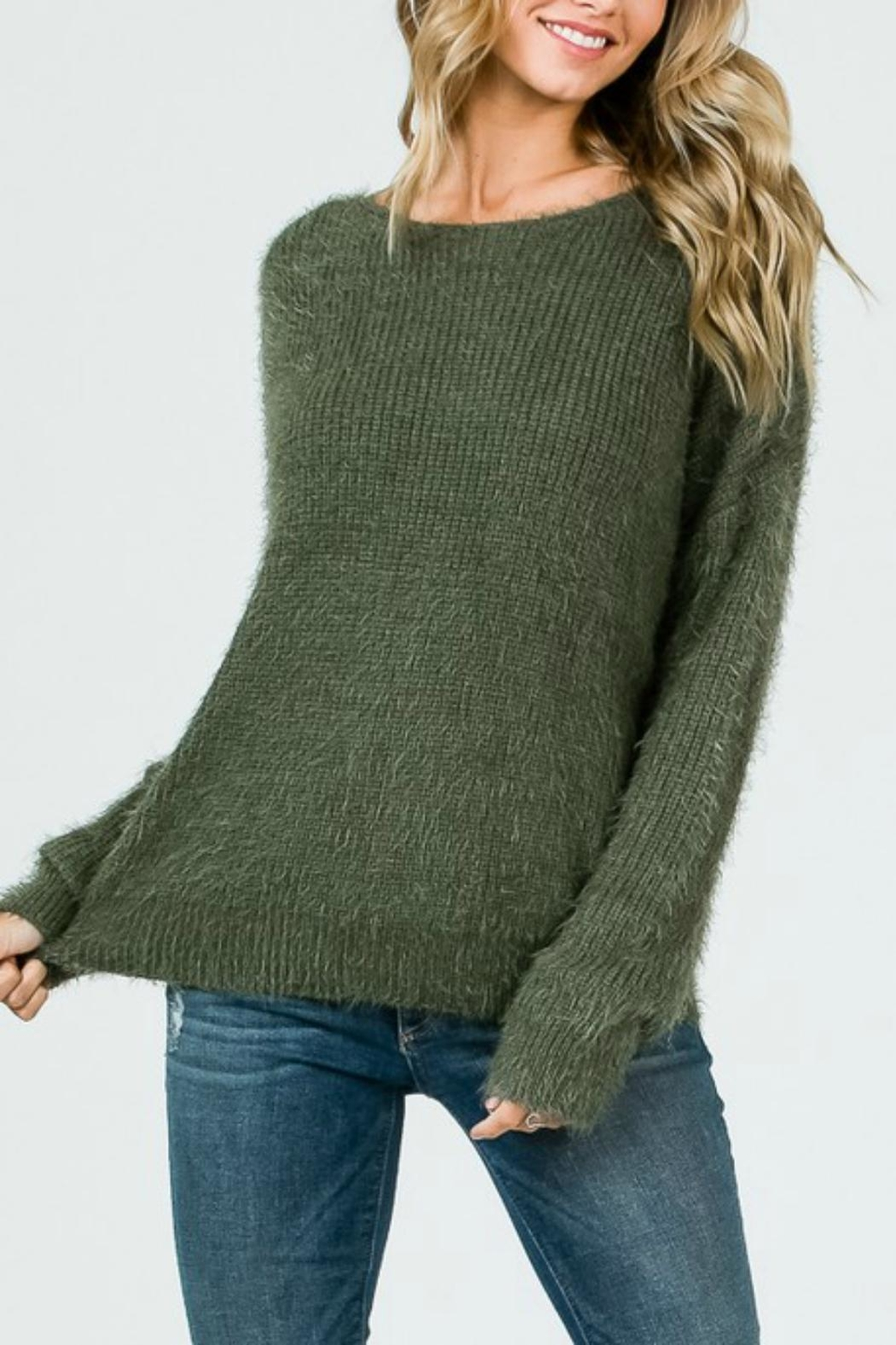 Pretty Little Things Mohair Knotted Sweater - Front Full Image