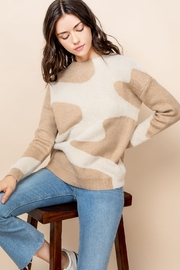 THML Clothing Mohair Patterned Sweater - Front full body