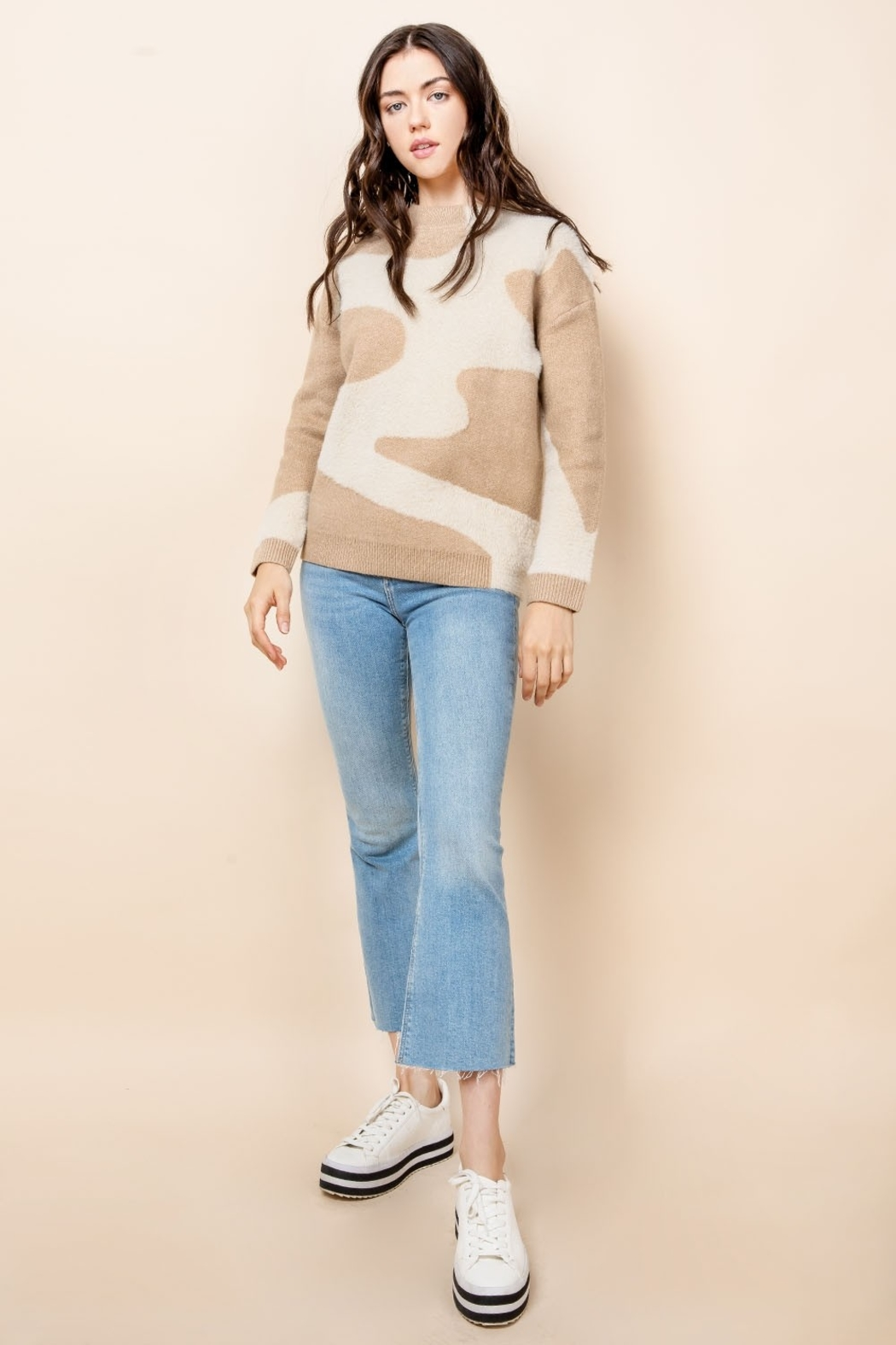 THML Clothing Mohair Patterned Sweater - Main Image