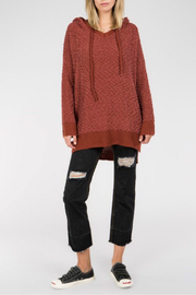 POL Mohair pullover hoodie dress - Product Mini Image
