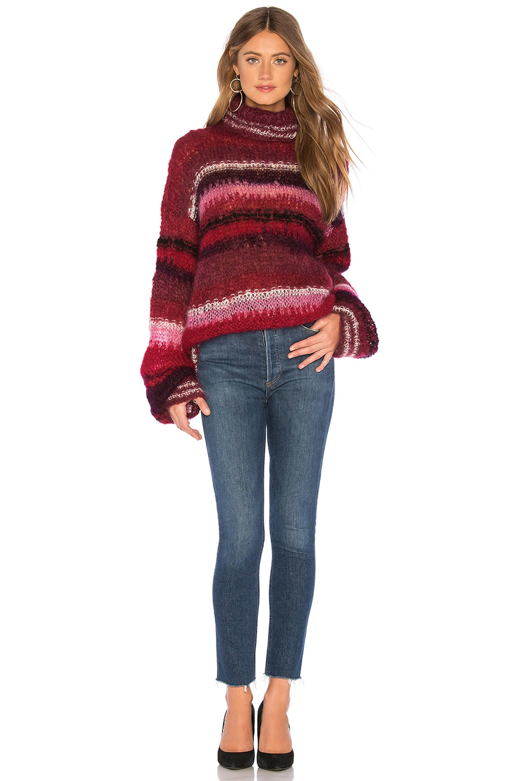 One Clothing Mohair Striped Sweater - Main Image