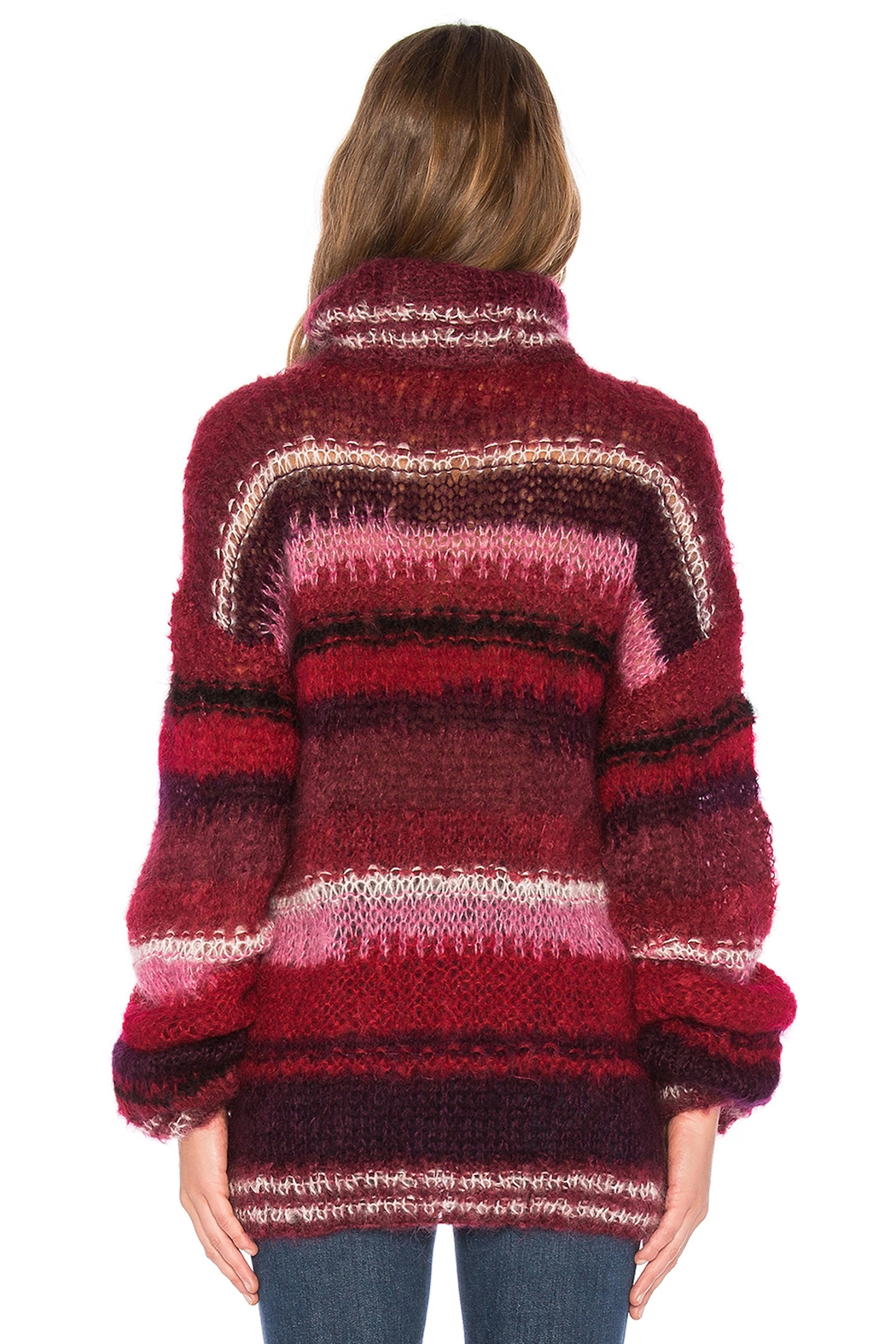 One Clothing Mohair Striped Sweater - Front Full Image