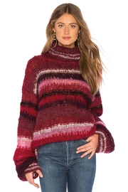 One Clothing Mohair Striped Sweater - Side cropped