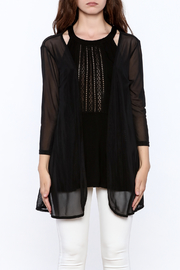 molli Black Mesh Cardigan - Side cropped