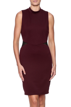 Shoptiques Product: Burgundy Mock Neck Dress