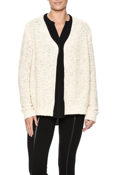 Shoptiques Product: Cream Black Trim Cardigan