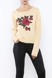 Molly Bracken Floral Knit Sweater - Product Mini Image