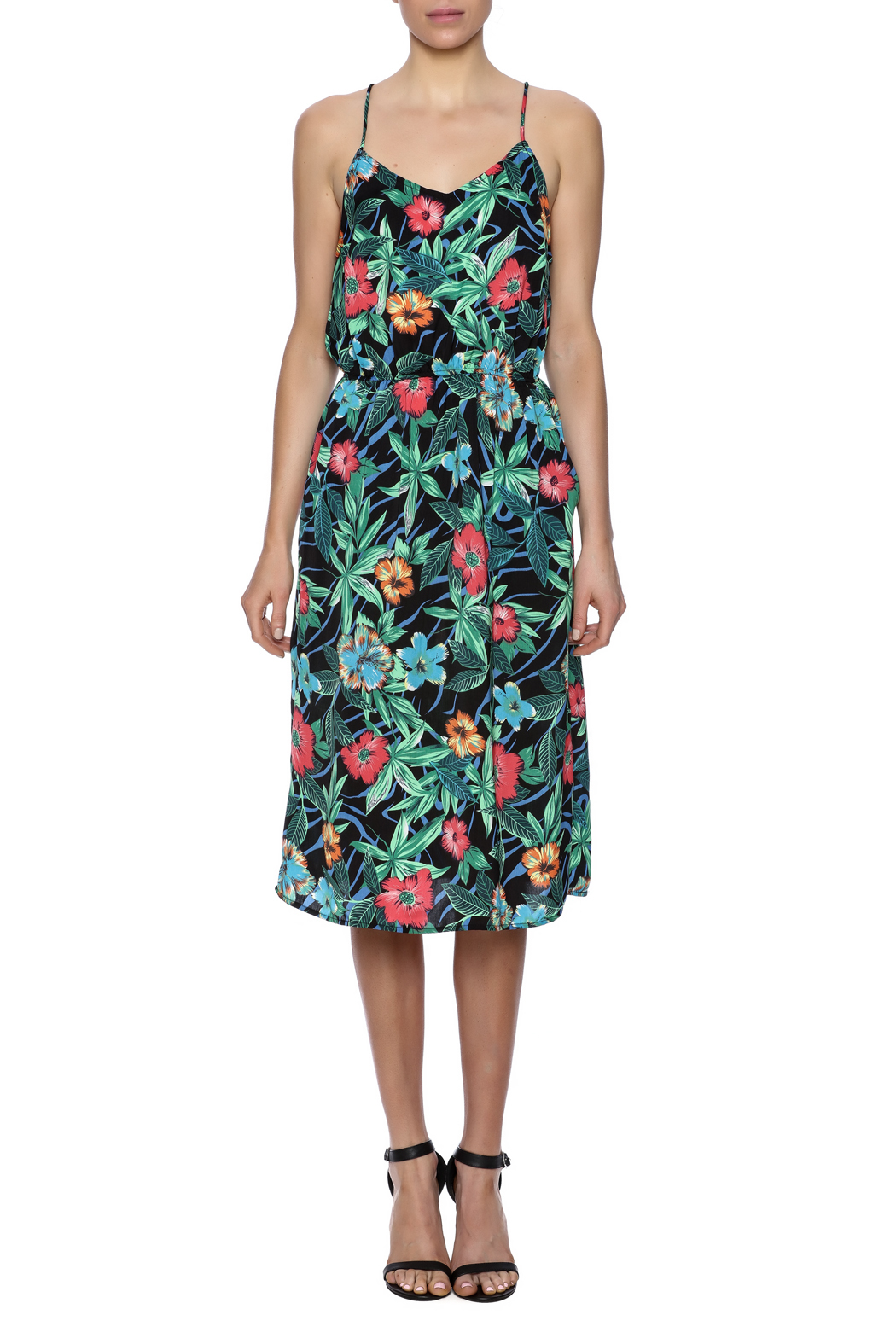 Molly Bracken Hawaiian Print Dress - Front Cropped Image