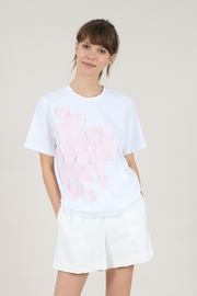 Molly Bracken Jersey Heart Patch Tee - Product Mini Image
