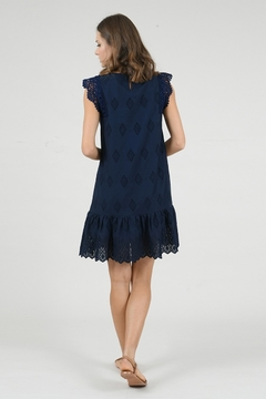 Molly Bracken Lace Ruffled Bottom Shift Dress - Alternate List Image