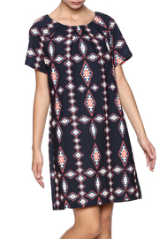 Shoptiques Product: Navy Printed Tunic