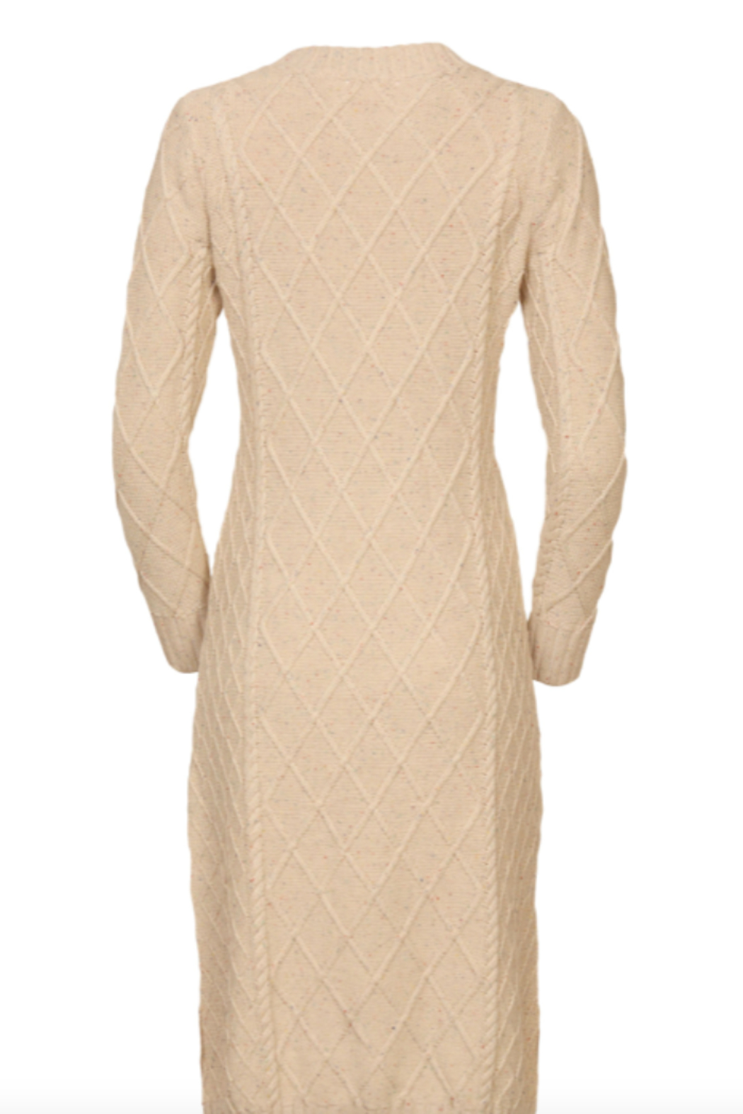 Line & Dot Molly Cable Knit Dress - Side Cropped Image