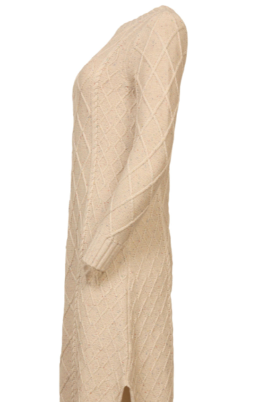 Line & Dot Molly Cable Knit Dress - Front Full Image