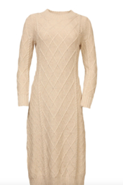 Line & Dot Molly Cable Knit Dress - Front cropped