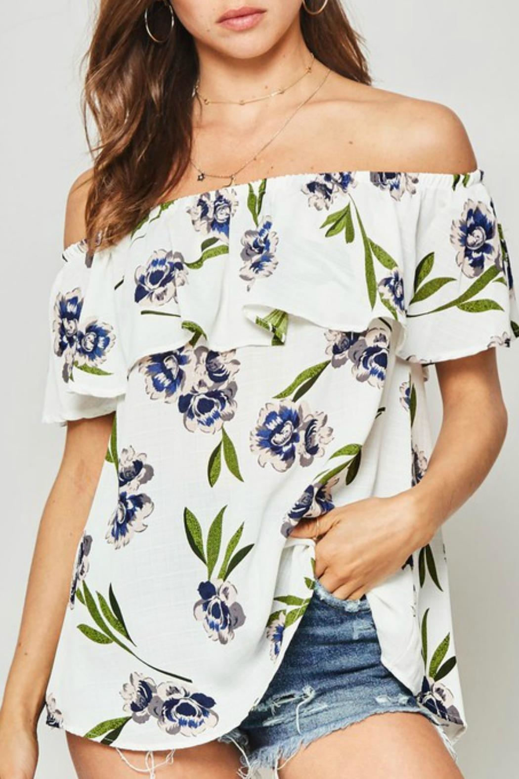 Promesa USA Molly Floral Blouse - Front Cropped Image