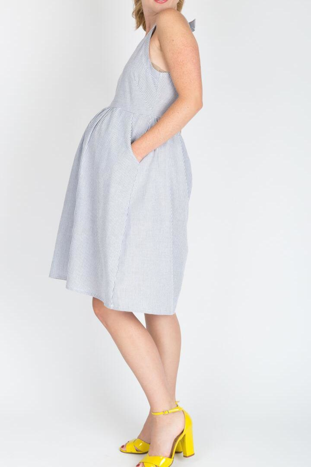 NOM Maternity Molly Maternity Dress - Side Cropped Image
