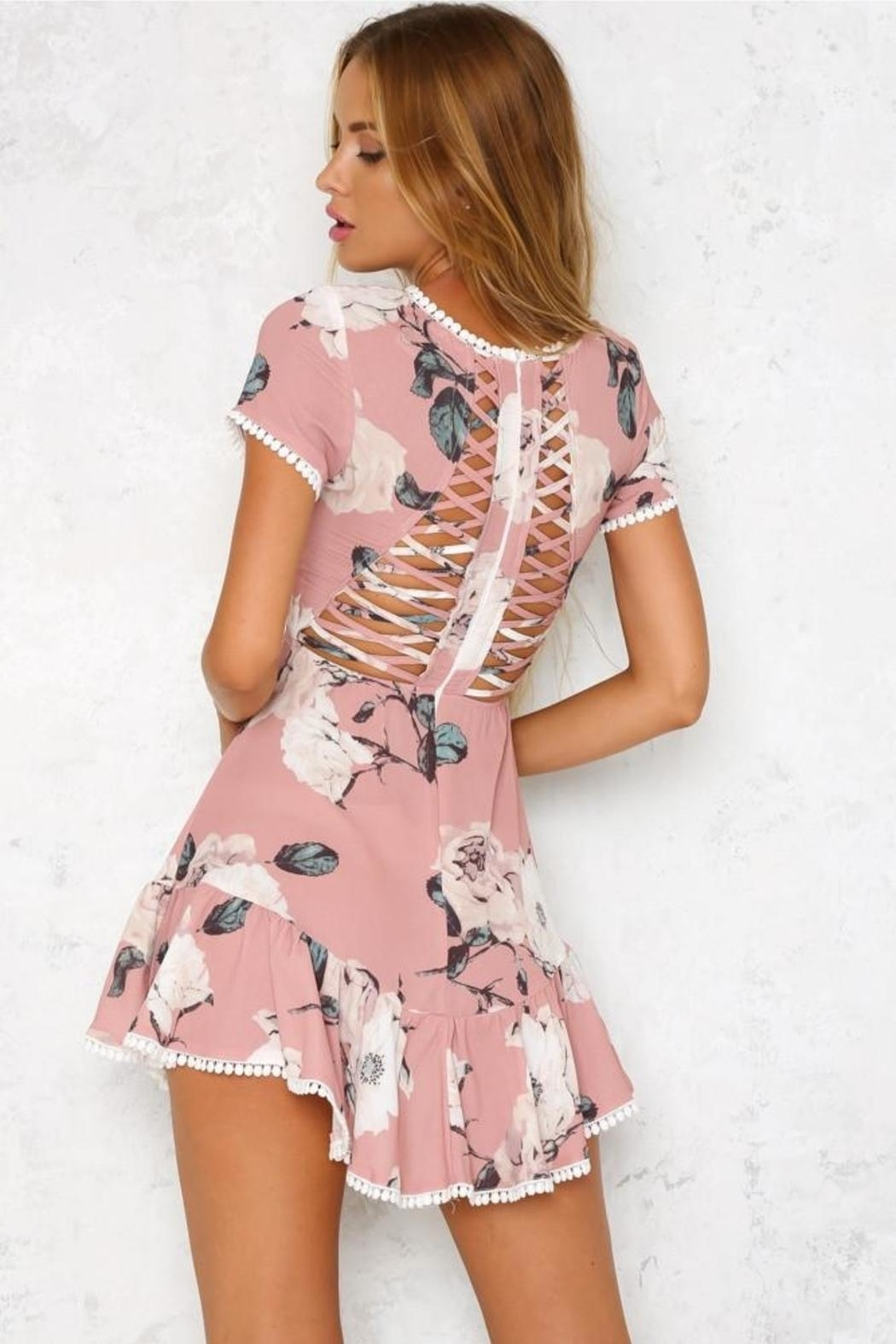 Blossom Molly Mini Dress - Side Cropped Image
