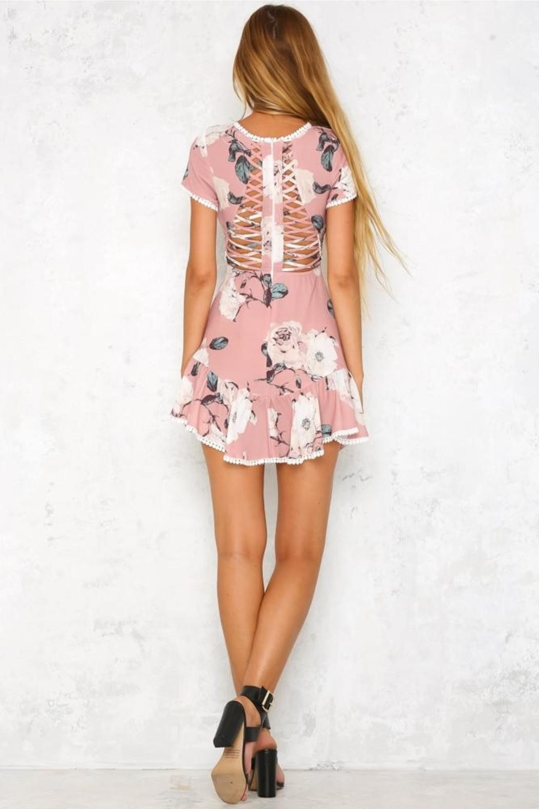 Blossom Molly Mini Dress - Back Cropped Image