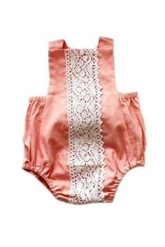 Shoptiques Product: Molly-Romper-In-Pink-Linen