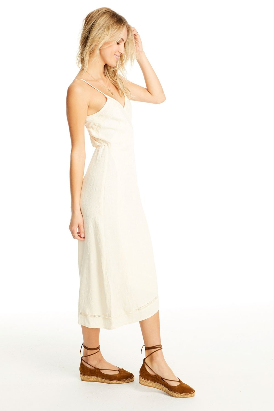 Saltwater Luxe Molly Wrap Midi Dress - Front Full Image
