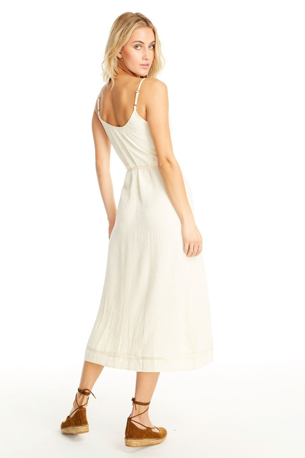 Saltwater Luxe Molly Wrap Midi Dress - Side Cropped Image