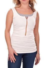 Molly Ades Zip Nursing Tank - Front cropped