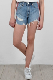 Molly Bracken Stripe Denim Shorts - Product Mini Image