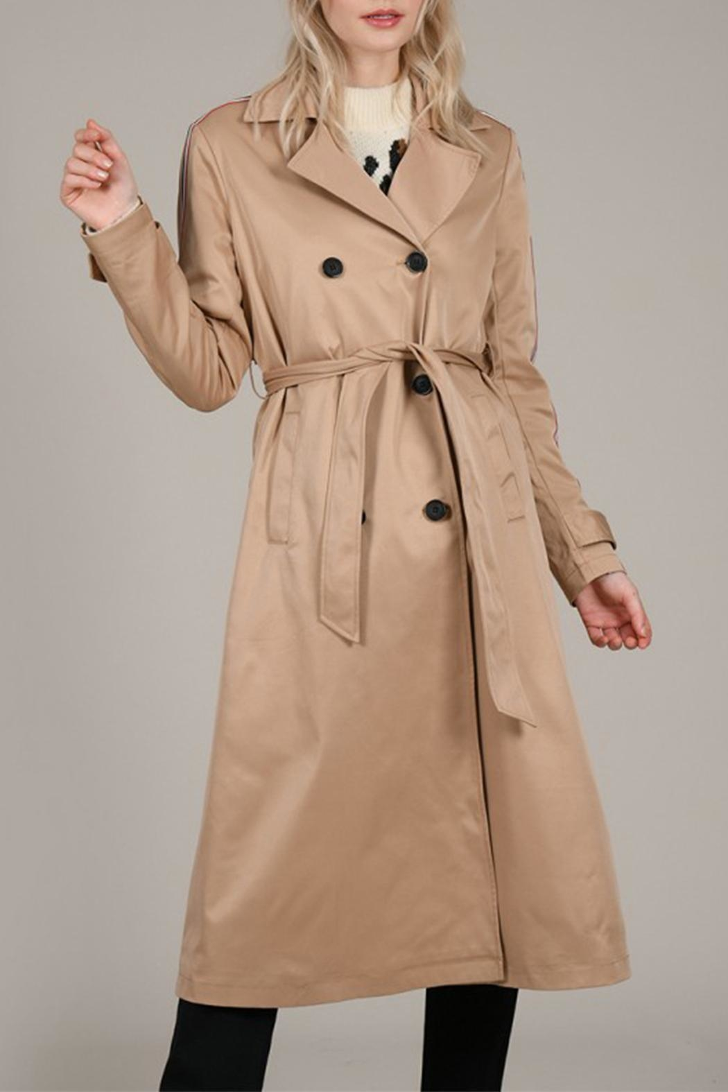 Molly Bracken Band Trench Coat - Back Cropped Image