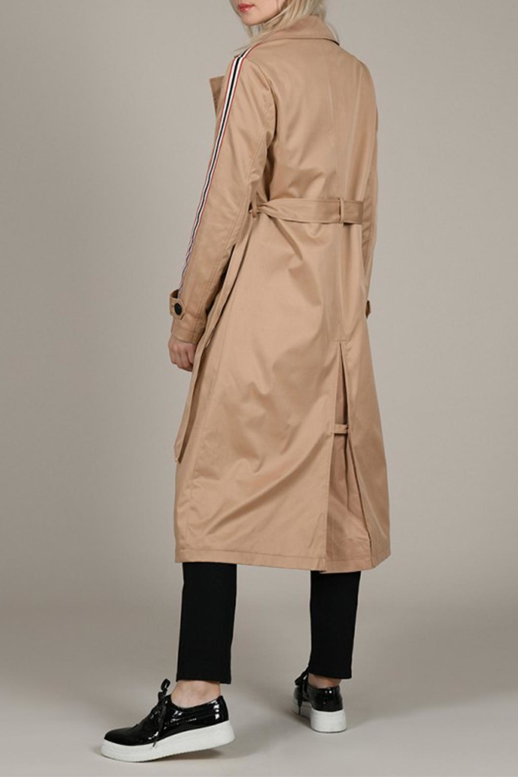 Molly Bracken Band Trench Coat - Side Cropped Image