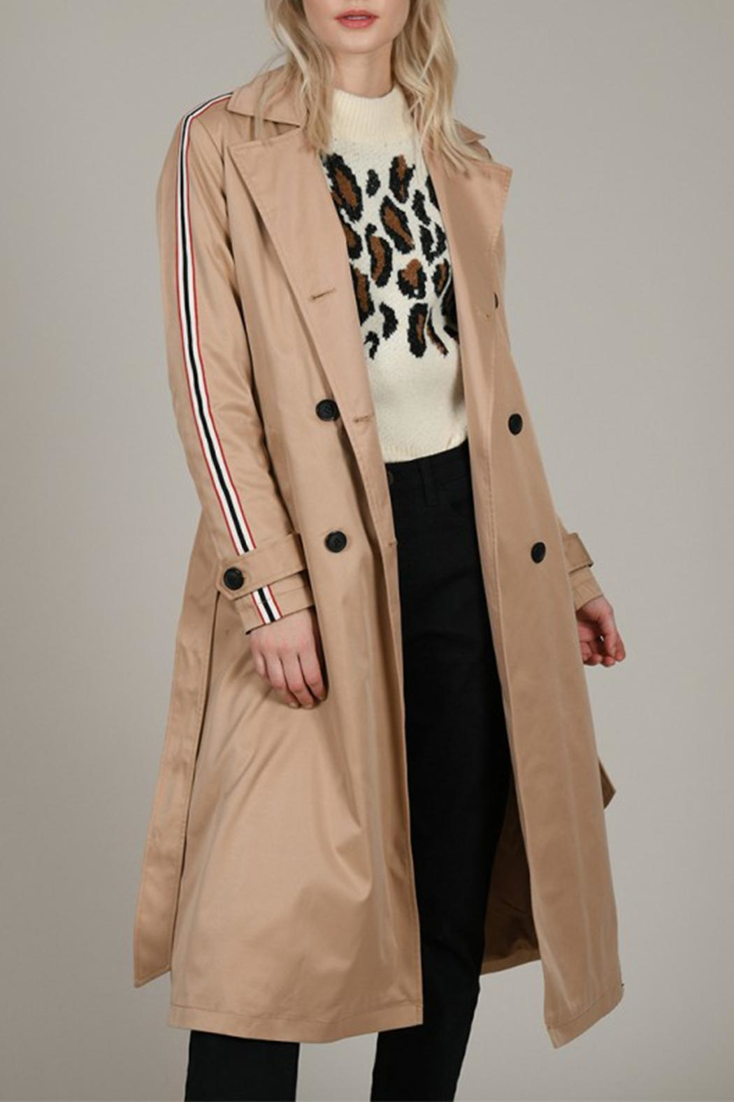 Molly Bracken Band Trench Coat - Main Image