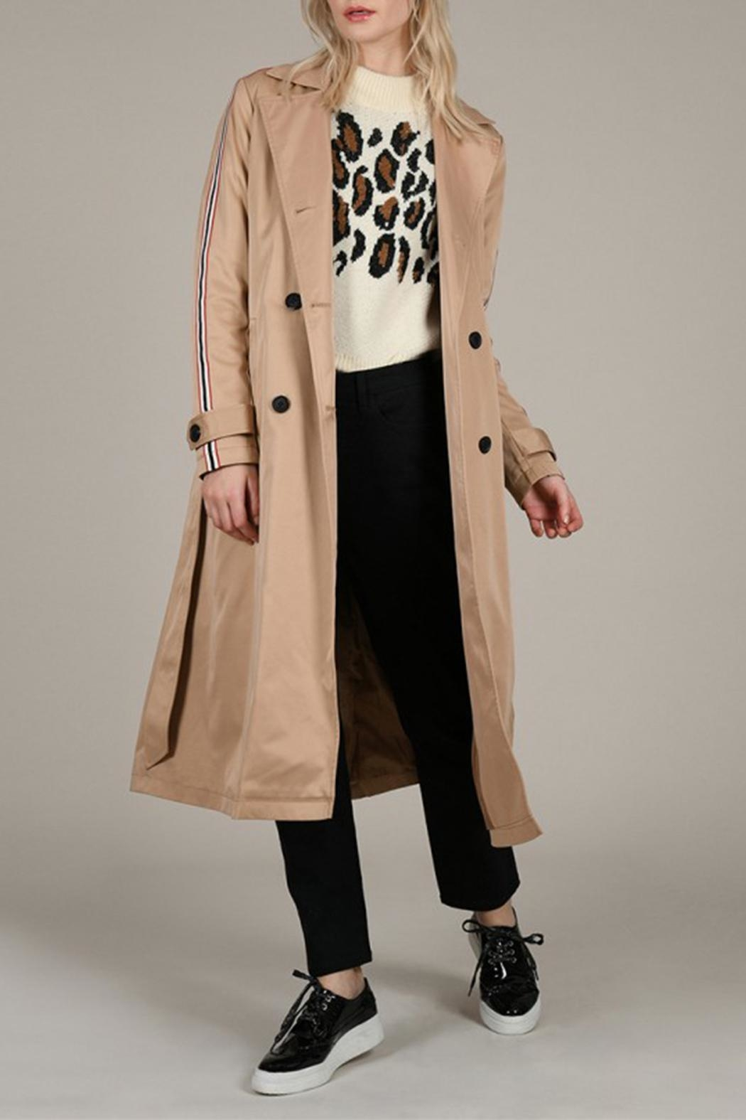 Molly Bracken Band Trench Coat - Front Full Image