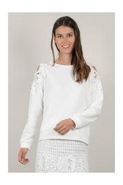 Molly Bracken Beaded Shoulder Top - Product Mini Image