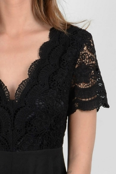 Molly Bracken Black Lace Romper - Alternate List Image