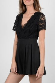 Molly Bracken Black Lace Romper - Product Mini Image