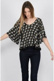 Molly Bracken Butterfly Sleeve Top - Product Mini Image