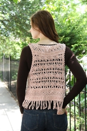 Molly Bracken Chunky Crochet Vest - Back cropped