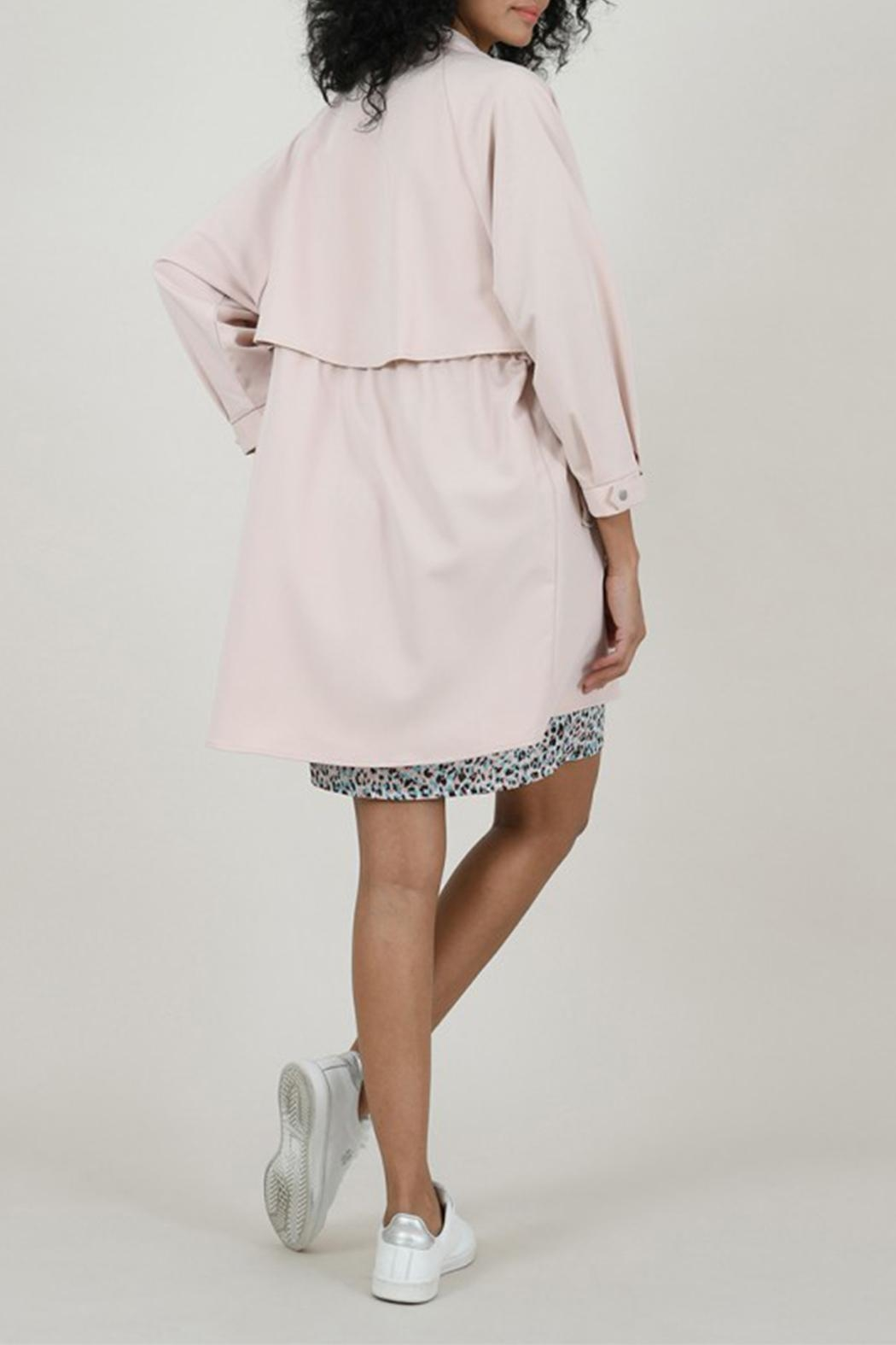 Molly Bracken Crossed Trench Coat - Side Cropped Image