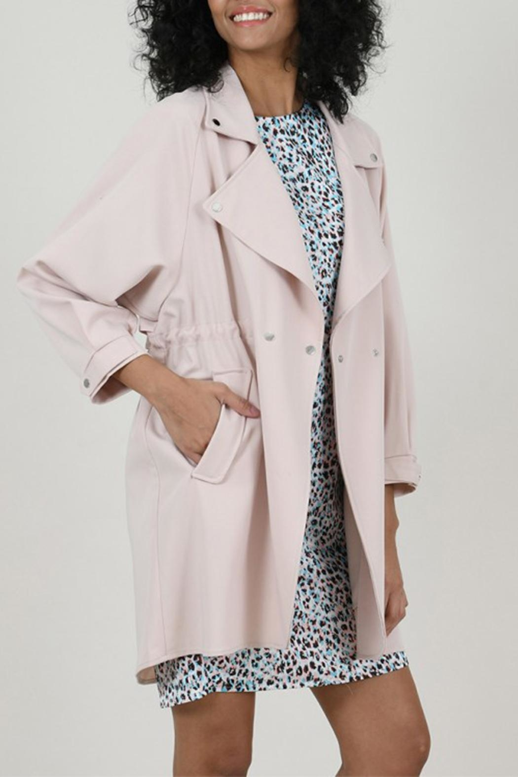 Molly Bracken Crossed Trench Coat - Back Cropped Image
