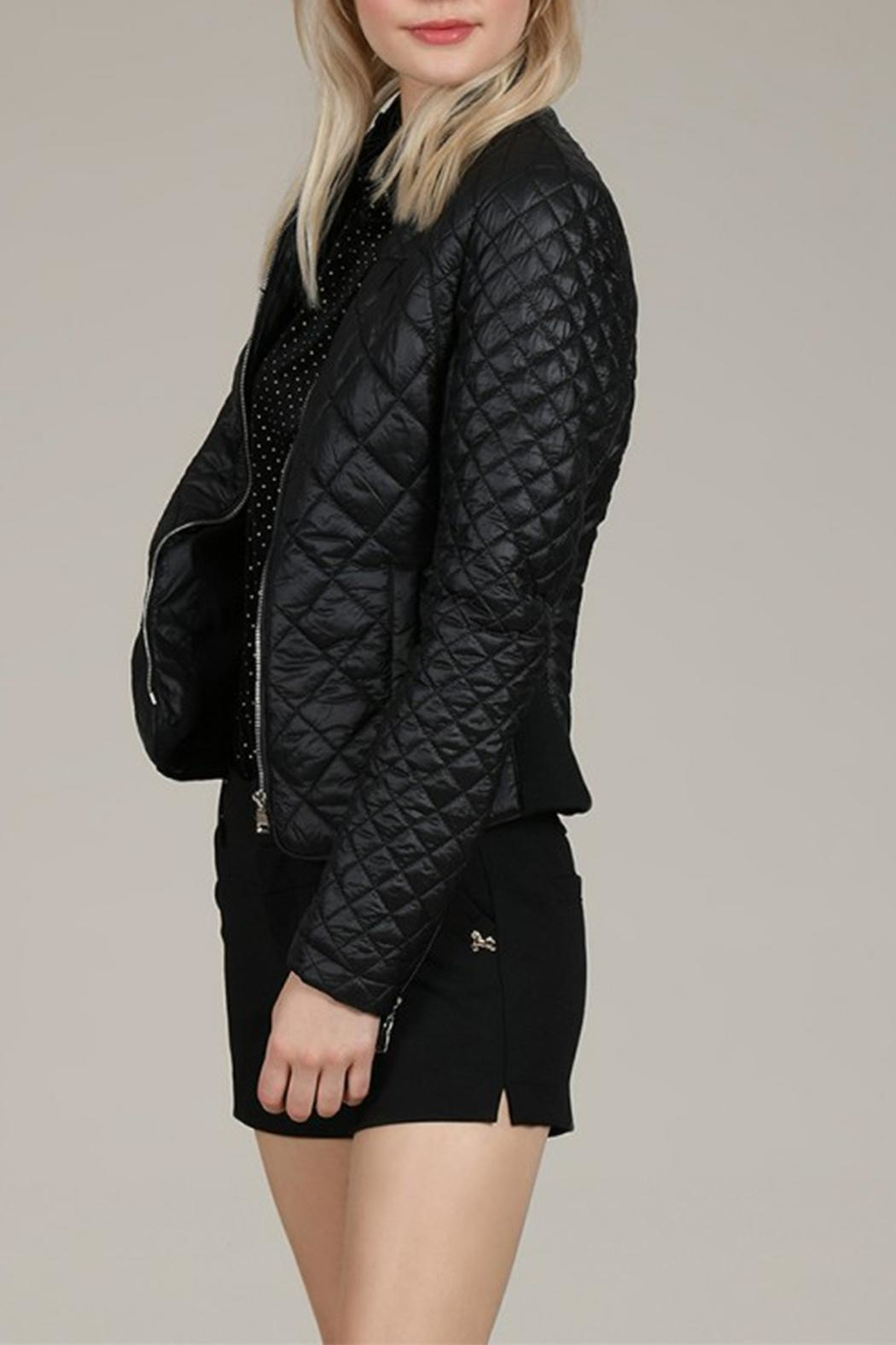 Molly Bracken Diamond Quilted Jacket - Back Cropped Image