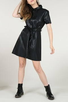 Molly Bracken Faux Leather Dress - Product List Image