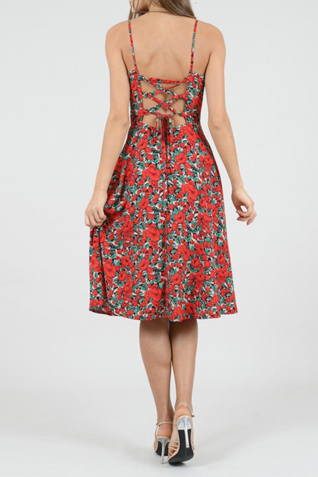 Molly Bracken Floral Dress - Side Cropped Image