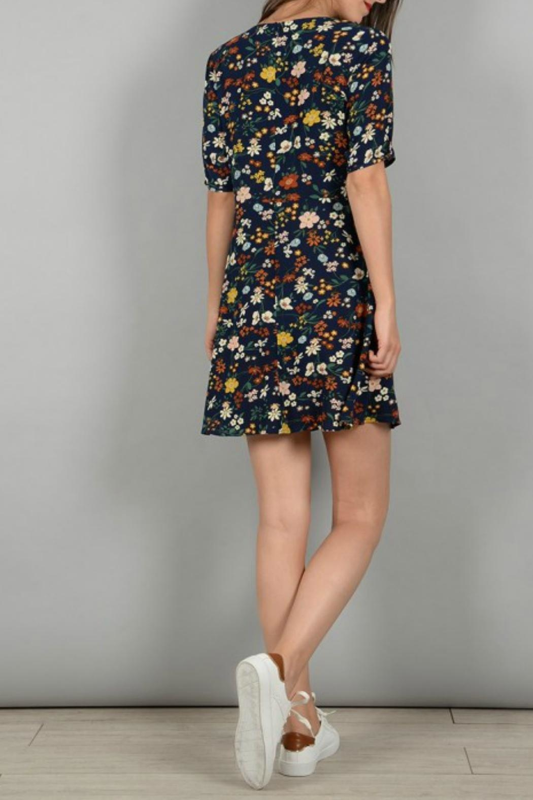 Molly Bracken Floral Print Dress - Side Cropped Image