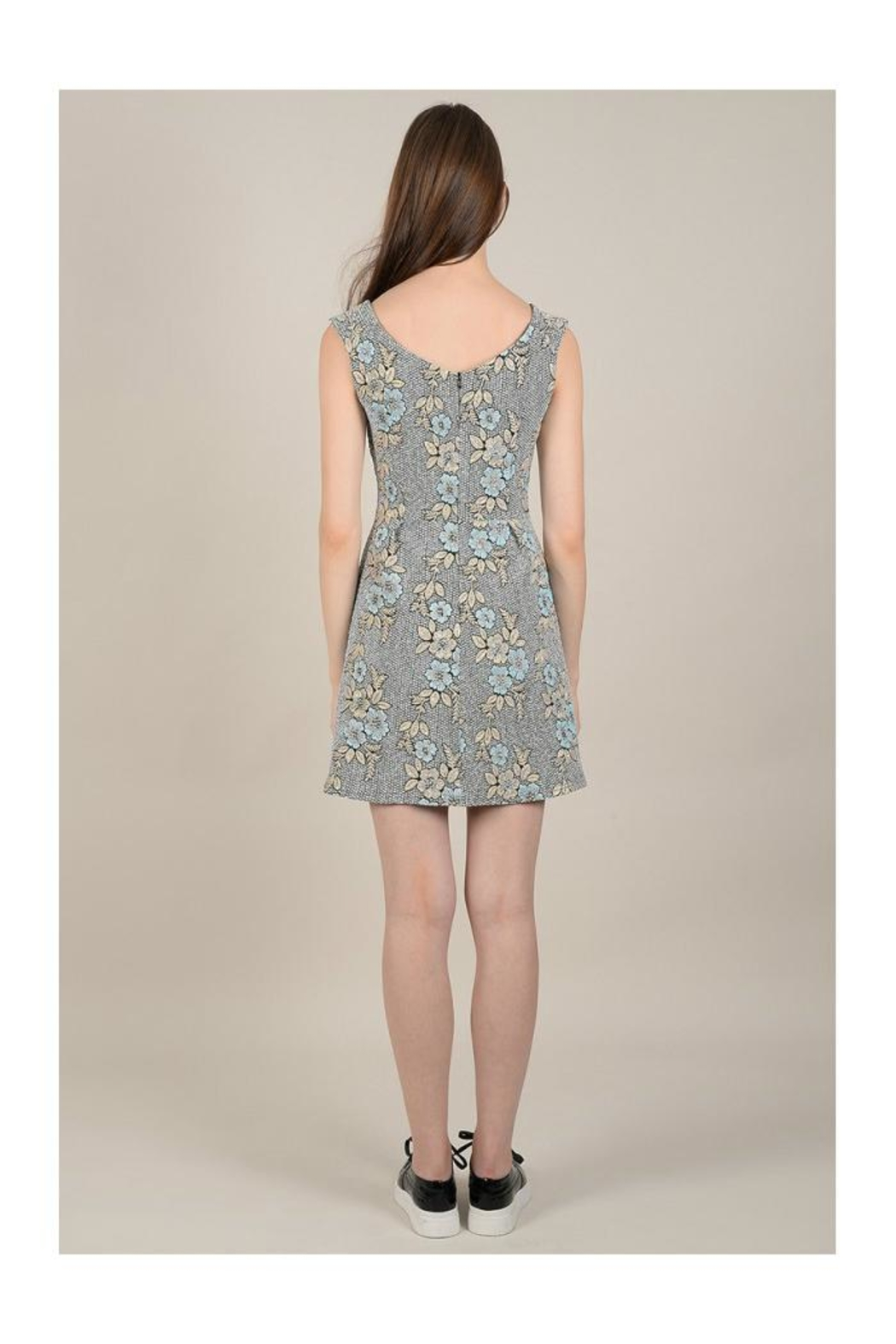 Molly Bracken Floral Print Dress - Back Cropped Image