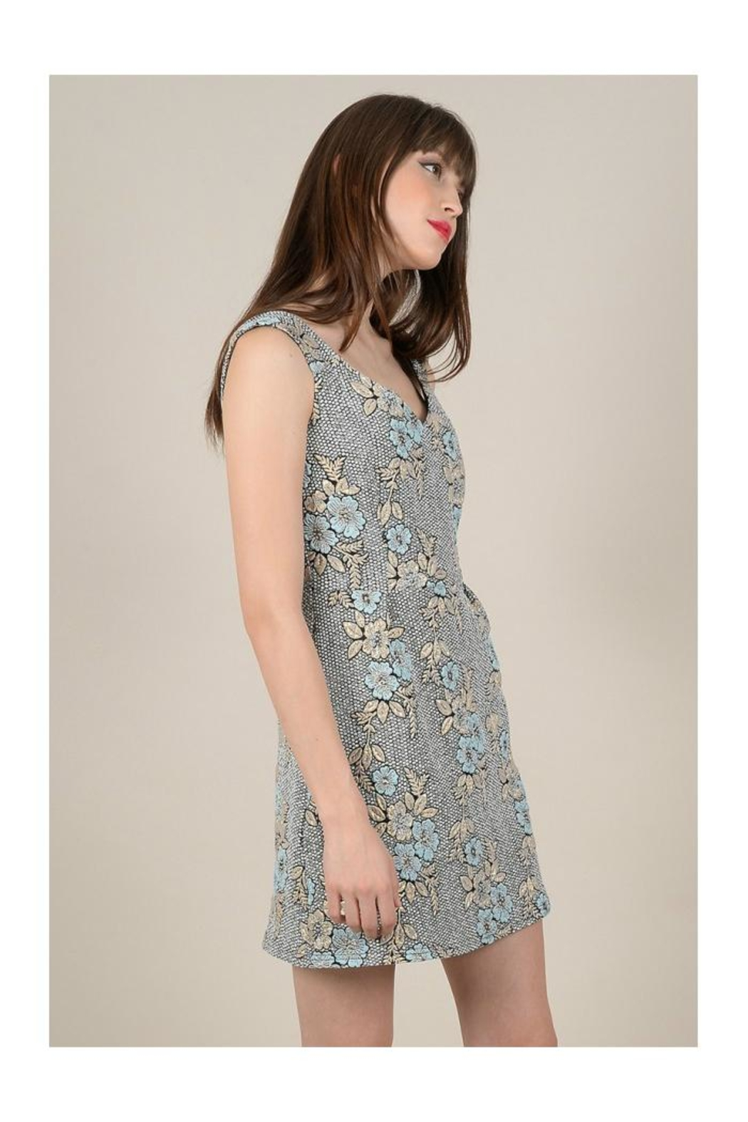 Molly Bracken Floral Print Dress - Front Full Image