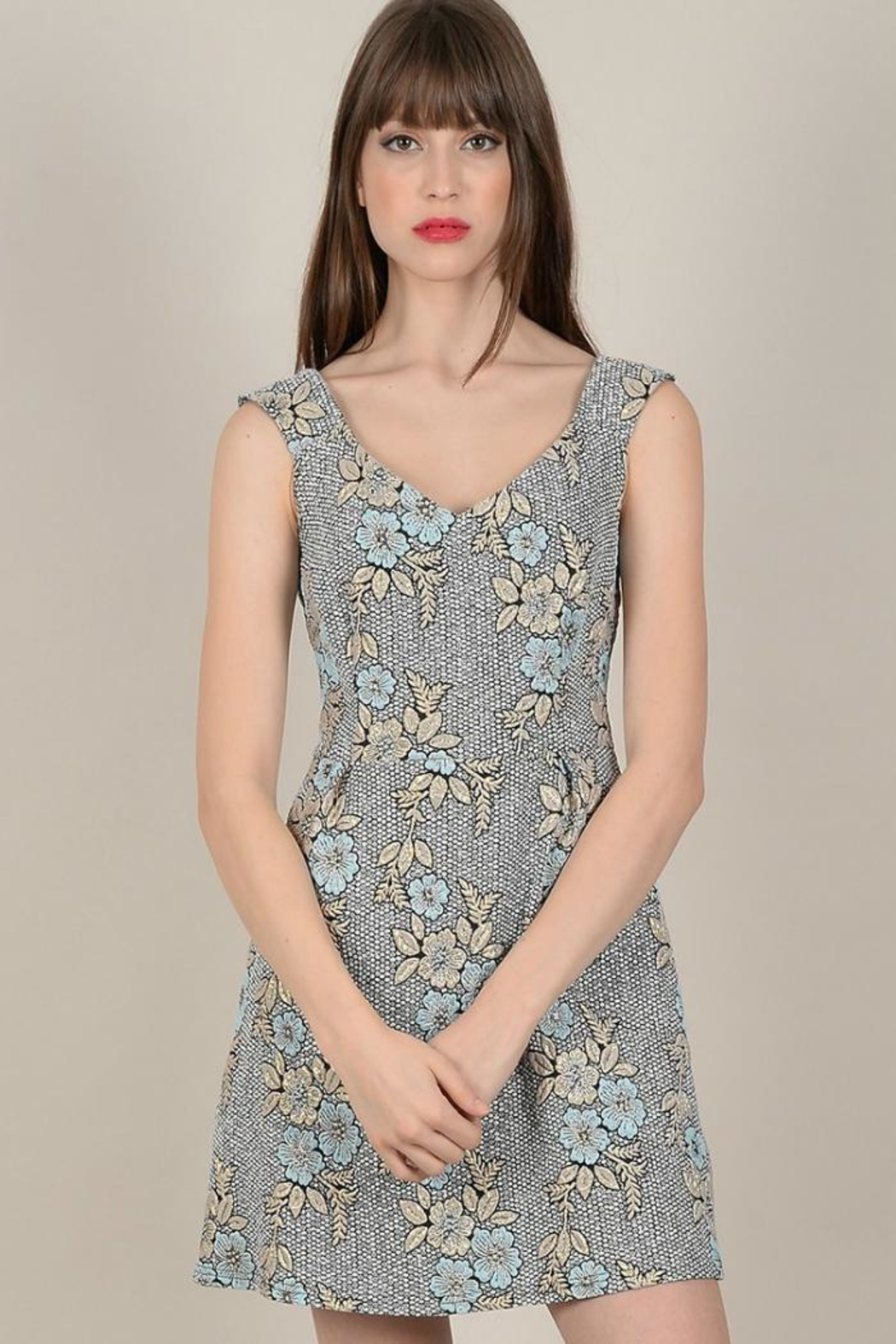 Molly Bracken Floral Print Dress - Front Cropped Image