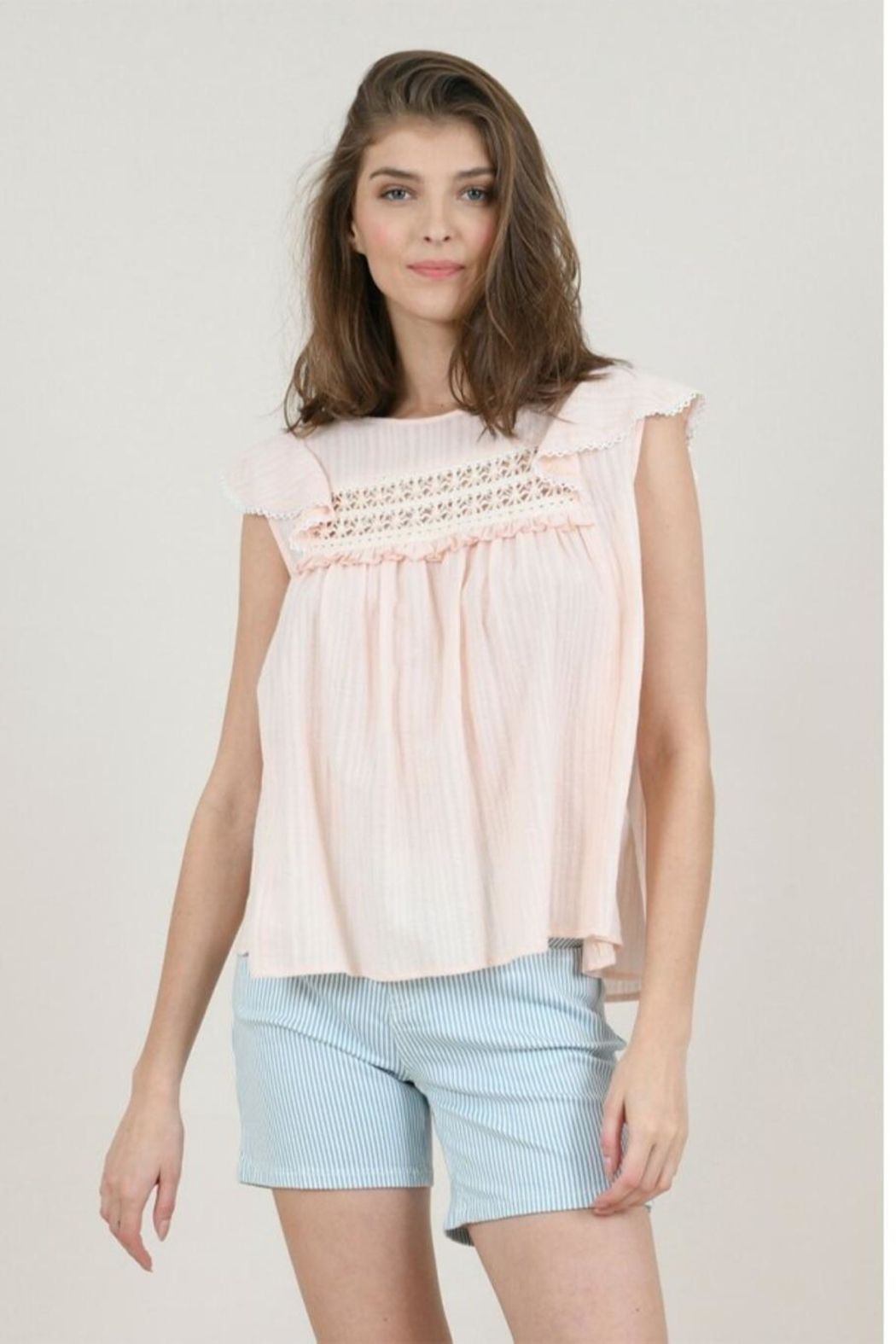 Molly Bracken Flounced Top - Front Cropped Image