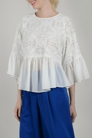 Molly Bracken Flowy Embroidered Top - Product Mini Image